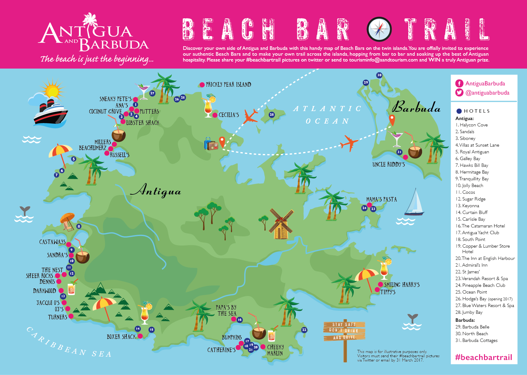 Antigua Beach Bar Trail